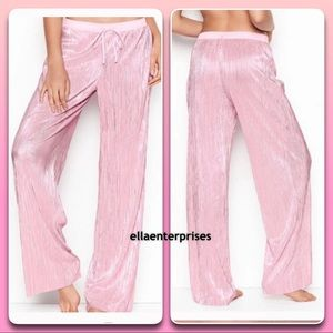 Victoria's Secret Shine Pleat Pink Pajama Pants